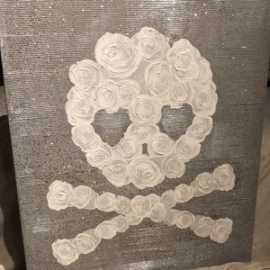 Glitter and Rose skull picture